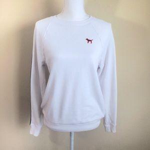 Pink Victoria's Secret White Pullover